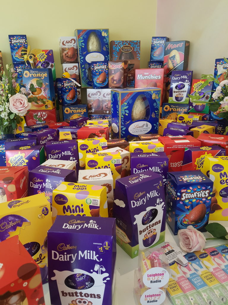 124 easter eggs donated by Leighton Buzz Radio